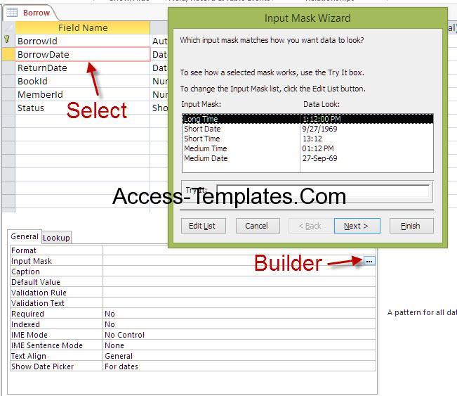 ms access input mask 2