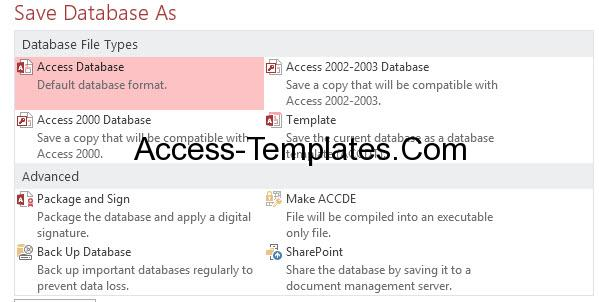 Extension Of Ms Access (3)
