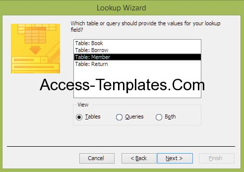 Lookup wizard in microsoft access 2013 and 2016 access for Ms access templates 2013