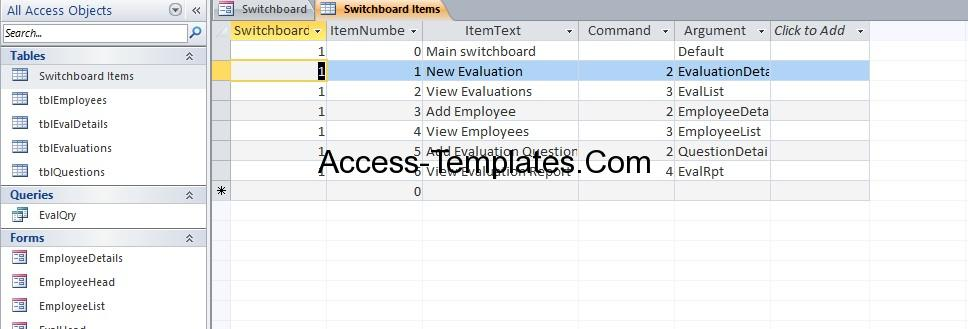 access employee database templates for ms access 2013 and 2016