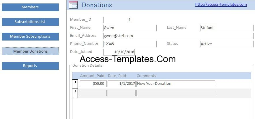 ms access free templates