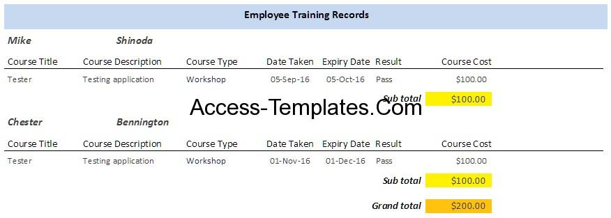 employee-training-plan-template-access