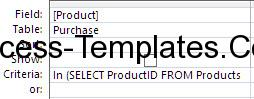 Ms Access Subquery (4)