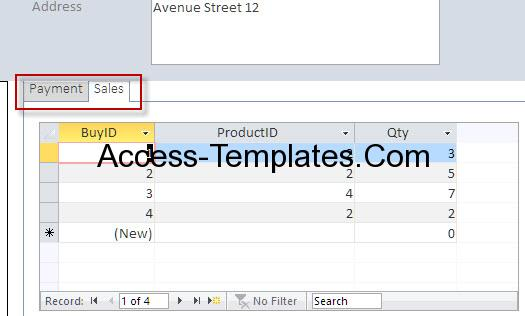 access database and templates, Invoice examples