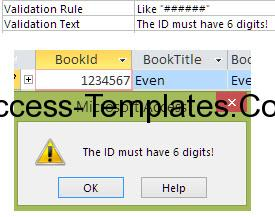 Ms Access Validation Rule-4