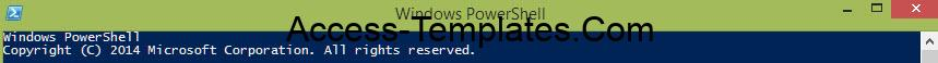 Powershell Access Database Application