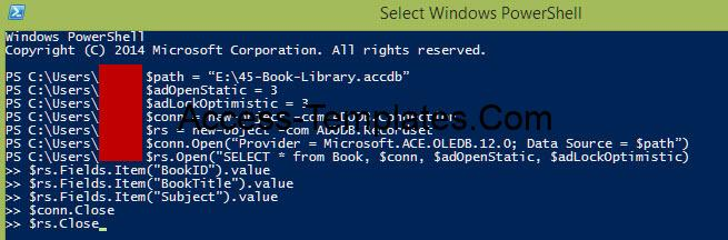 Powershell Query MS Access